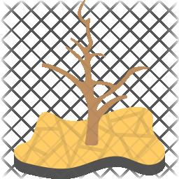 Drought Flat Icon