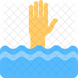 Drowning Flat Icon