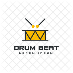 Drum Logo Colored Outline Icon