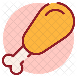 Drumstick Colored Outline Icon