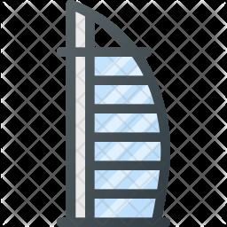 Dubai Colored Outline Icon