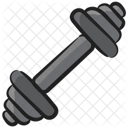 Dumbbell Doodle Icon