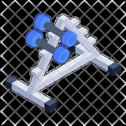Dumbbell Rack Icon