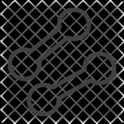 Dumbbells Line Icon