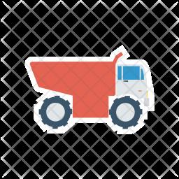Dumper Flat Icon