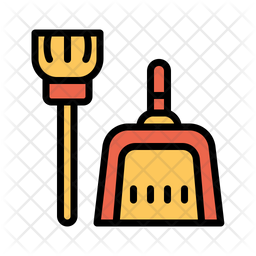 Dust Pan Broom Icon