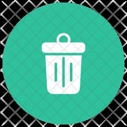 Dustbin Glyph Icon