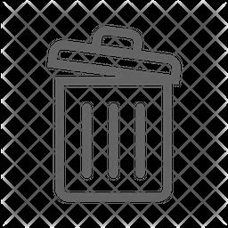 Dustbin Line Icon