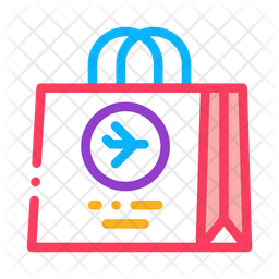 Duty Store Bag Colored Outline Icon