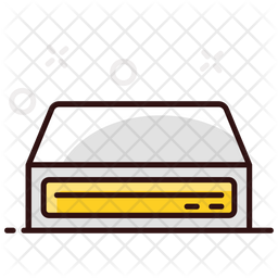 Dvd Player Colored Outline Icon