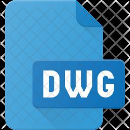 Dwg file Flat Icon