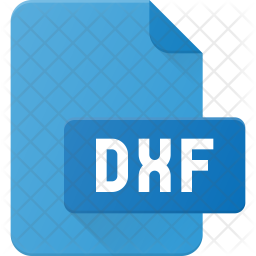 Dxf file Flat Icon