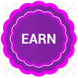 Earn label Icon