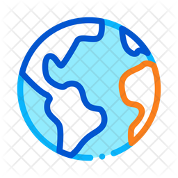 Earth Colored Outline Icon