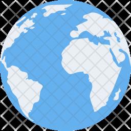 Earth Flat Icon
