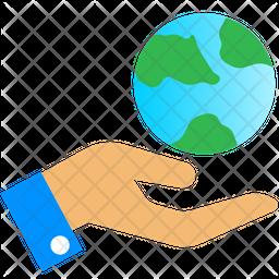 Earth Care Flat Icon