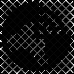 Earth Layer Line Icon
