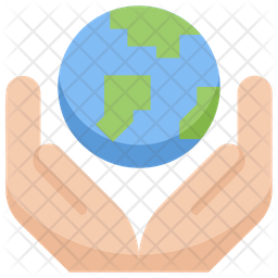 Earth on hands Flat Icon
