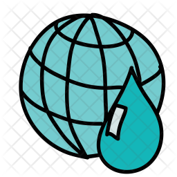 Earth water Icon