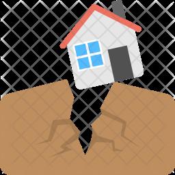 Earthquake Flat Icon