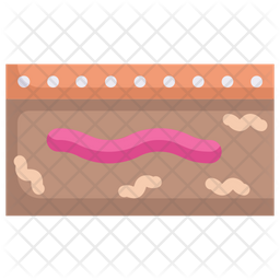 Earthworm In Earth Icon Of Flat Style Available In Svg Png Eps Ai Icon Fonts