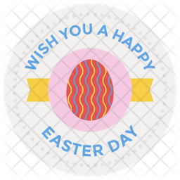 Easter Day Badge Icon
