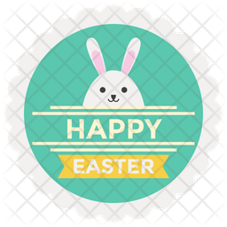 Easter Day Label Icon