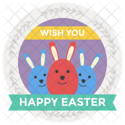 Easter Day Sticker Icon