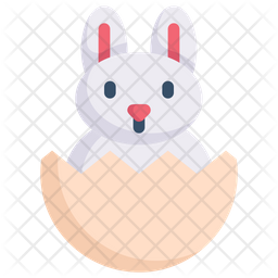 Easter Egg Rabbit Icon