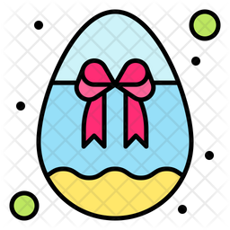 Easter Gift Colored Outline Icon
