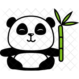 Eating Panda Icon Of Sticker Style Available In Svg Png Eps Ai Icon Fonts