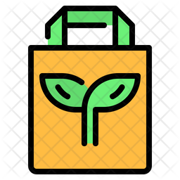Eco bag Colored Outline Icon