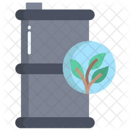 Eco Barrel Flat Icon