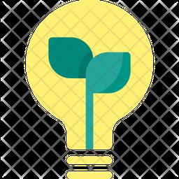 Eco bulb Flat Icon
