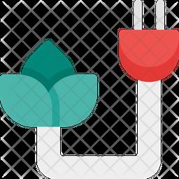 Eco energy Flat Icon