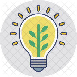 Eco Light Colored Outline Icon