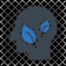 Eco Mind Flat Icon