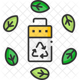 Eco Recycling Battery Icon