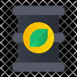 Ecological Barrel Flat Icon