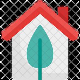 Ecological house Flat Icon