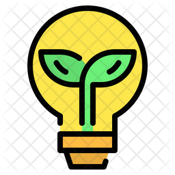 Ecology Bulb Colored Outline Icon