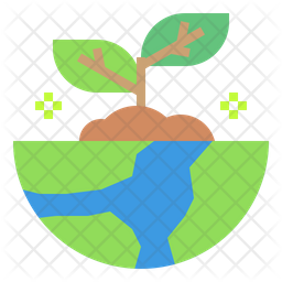 Ecology Growth Flat Icon