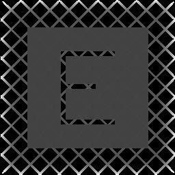 Edge Glyph Icon