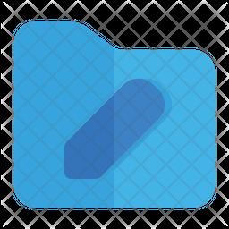 Edit Folder Flat Icon