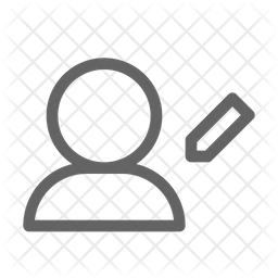 Edit user Line Icon
