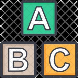 Educational Blocks Icon