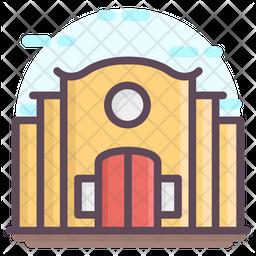Educational School Building Icon