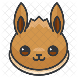 Eevee Colored Outline Icon