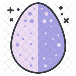 Egg Colored Outline Icon