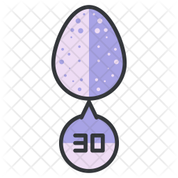 Egg number Colored Outline Icon